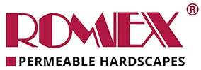 Romex Permeable Hardscapes Horizontal Logo 100px height