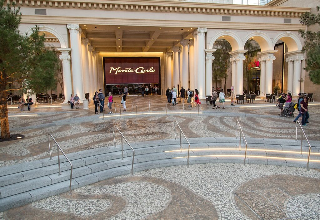 Stonework Outside Monte Carlo Las Vegas