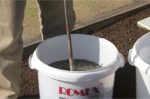 romex adhesion elutriant mix