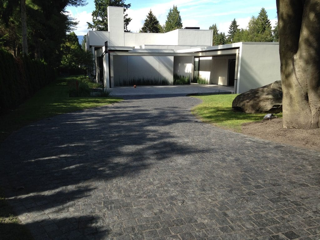 Driveway Natural Stone Pavers with Romex Drain image 1