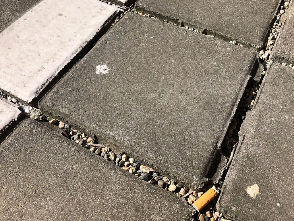 Without Consistent Maintenance Permeable Paving with cigarette butts